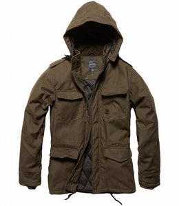 Vintage Industries Darren parka winterjas oak
