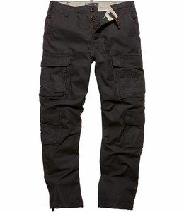 Vintage Industries Pack pants black cargo broek