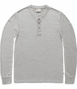 Vintage Industries Shoreline long sleeve henley shirt heather