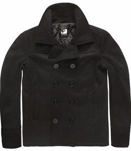 Vintage Industries Eagle peacoat winterjas black