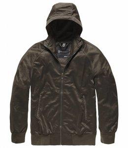 Vintage Industries Nickleys hooded trainingsjacket greenstone