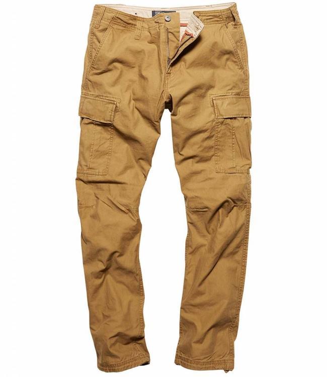 Vintage Industries Reydon BDU premium pants dark khaki cargo broek