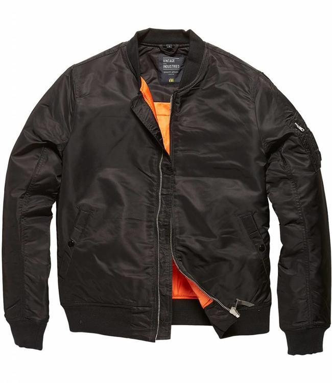 Vintage Industries Westford MA1 Bomberjack winterjas black