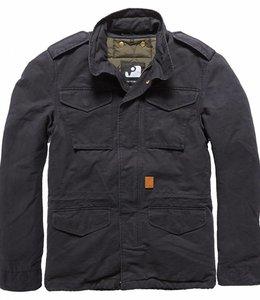 Vintage Industries Dave M65 jacket winterjas off black