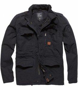 Vintage Industries Cranford jacket leger zomerjas dark navy