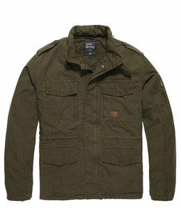 Vintage Industries Cranford jacket leger zomerjas dark olive