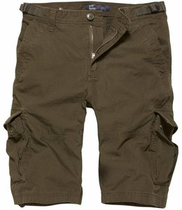 Vintage Industries Terrance shorts korte broek dark olive