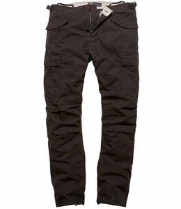 Vintage Industries Miller M65 pants black cargo broek