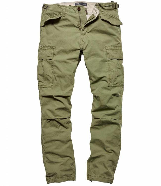 Vintage Industries Miller M65 pants olive drab cargo broek