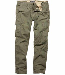 Vintage Industries Mallow pants olive cargo broek