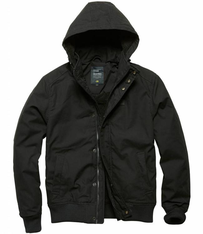 Vintage Industries Hudson jacket winterjas black