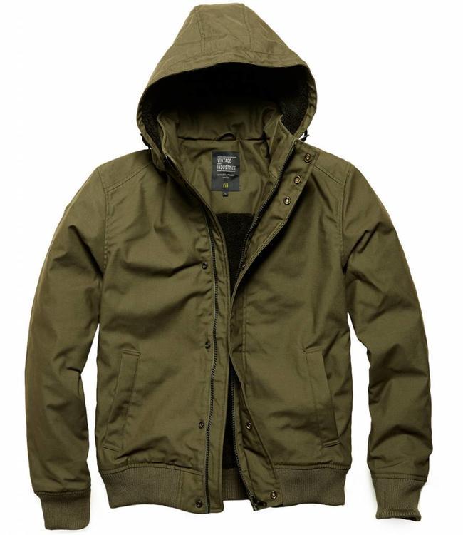 Vintage Industries Hudson jacket winterjas dark olive