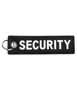 Sleutelhanger PVC security Zwart