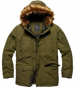 Vintage Industries Circle parka Winterjas olive