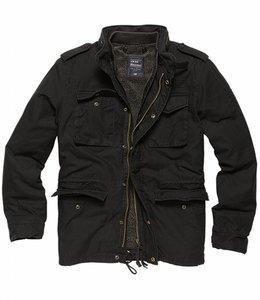 Vintage Industries Ground parka (Grote maten) Winterjas off black