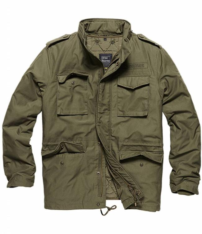 Vintage Industries Capper parka Winterjas olive