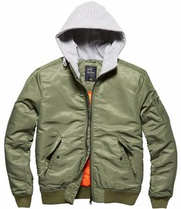 Vintage Industries Westend bomberjacket Winterjas olive (heather)