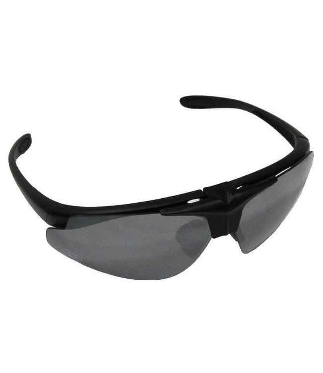 "Army Sports Bril, ""Hawk"", Zwart, 2 extra glasses"