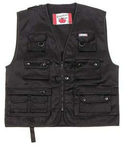 Canadian Outdoor Vest, Zwart heavy version