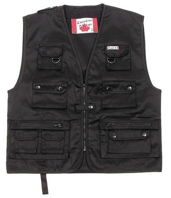 Canadian Outdoor Vest, Zwart heavy version