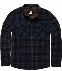 Vintage Industries Class jacket winterjas navy check