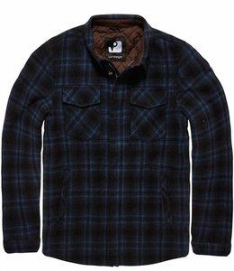 Vintage Industries Class jacket winterjas navy check