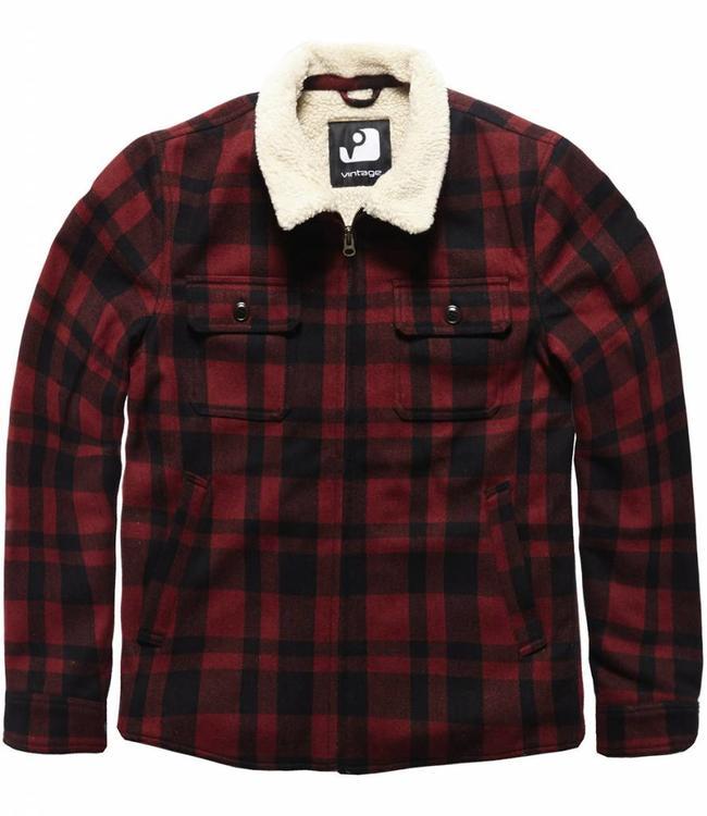 Vintage Industries Cavan jacket Winterjas red check
