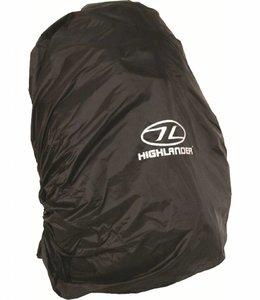 Highlander Regenhoes rugzak cover 50-70 liter Zwart