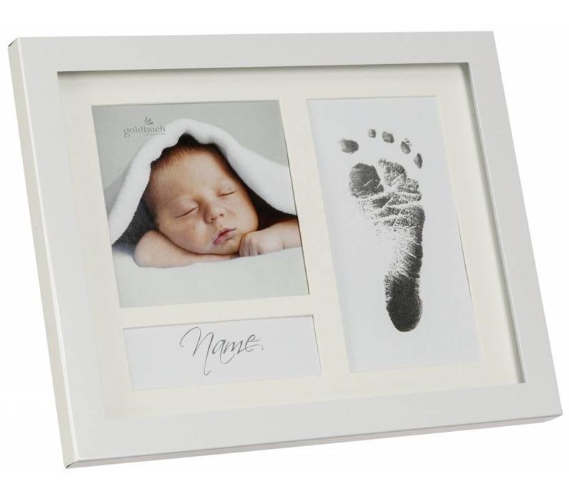 First Steps Voetafdruk metalen frame met Magic Footprint Speciale Set