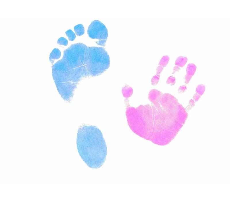 Gekleurde Dactek voet- en handafdrukset