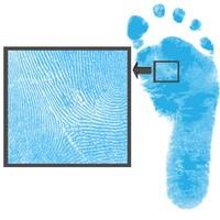 Set colorato Dactek per l'impronta dei piede e della mano