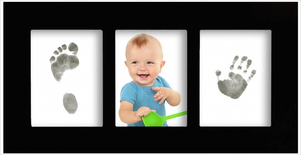 Babygalerierahmen mit Magic Footprints Abdruckset