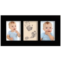 Baby gallery frame with Magic Footprints Special Set for footprint and handprint in black
