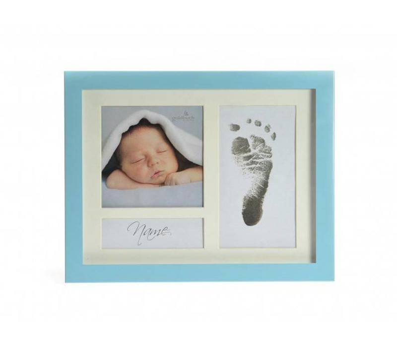 First Steps Voetafdruk metalen frame met Magic Footprint Speciale Set