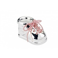 First tooth and first curl box Shoe with laces in two colours
