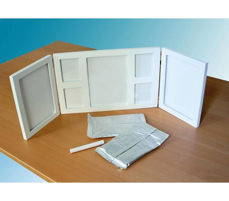 "Footprint Set ""3D-Memories"" with photo frame"