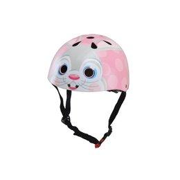 Kiddimoto Kinderhelm Pink Bunny Small