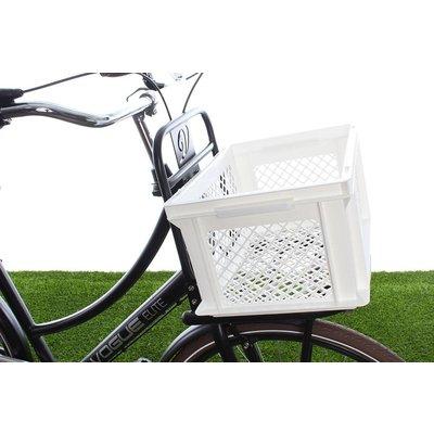 Lastpak Fietskrat Kunststof Wit M - prima krat voor lage prijs