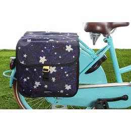 Basil Kinderfietstas Stardust Double bag Nightshade