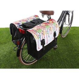 Beck Dubbele fietstas Classic Drippy