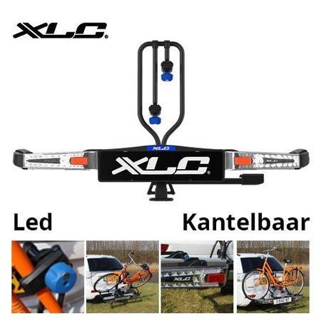 XLC Fietsendrager Azura Xtra LED met ledverlichting – kantelbaar – met oprijgoot