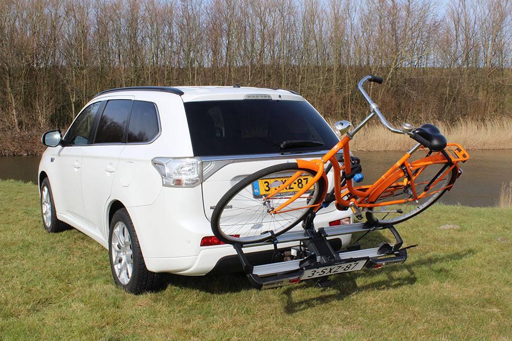 Fietsendrager kantelbaar met fiets