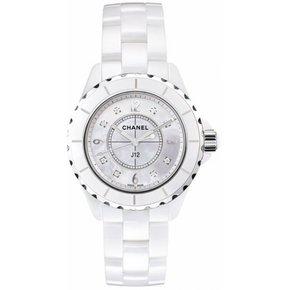 Chanel J12 White Horloge Keramiek Parelmoer / Keramiek (H2422)
