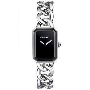 Chanel Premier Black Dial Stainless Steel Ladies Watch (H3250)