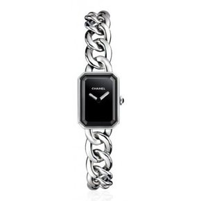 Chanel Premiere Black Dial Stainless Steel Ladies Watch (H3248)