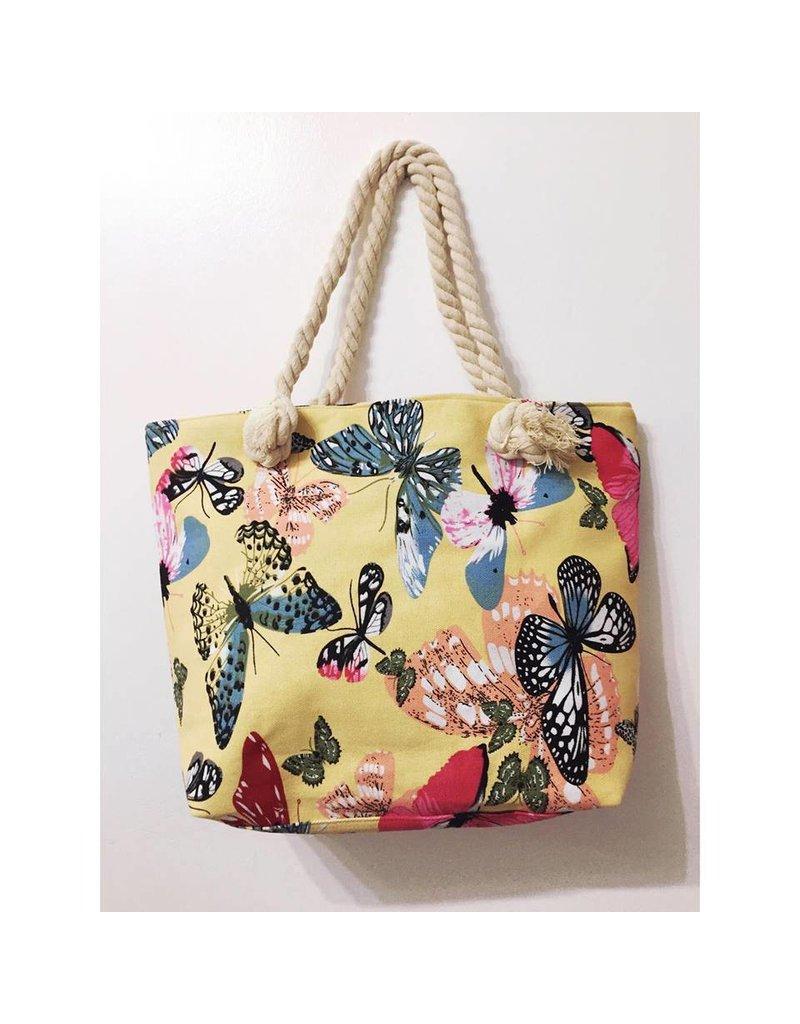 Lemon BUTTERFLY Beach Bag -