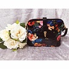 Black FLORAL CROC EFFECT Handbag