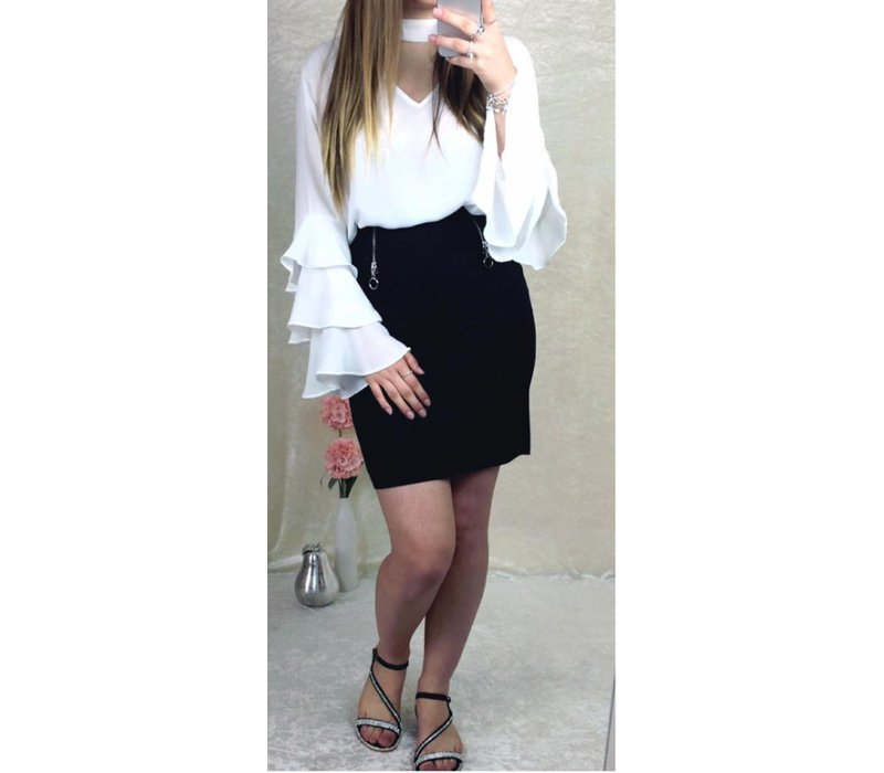Black Faux Suede Skirt