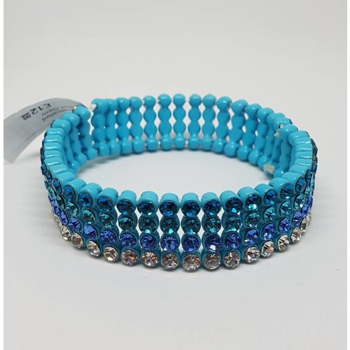 Elasticated Blue Gem Bracelet
