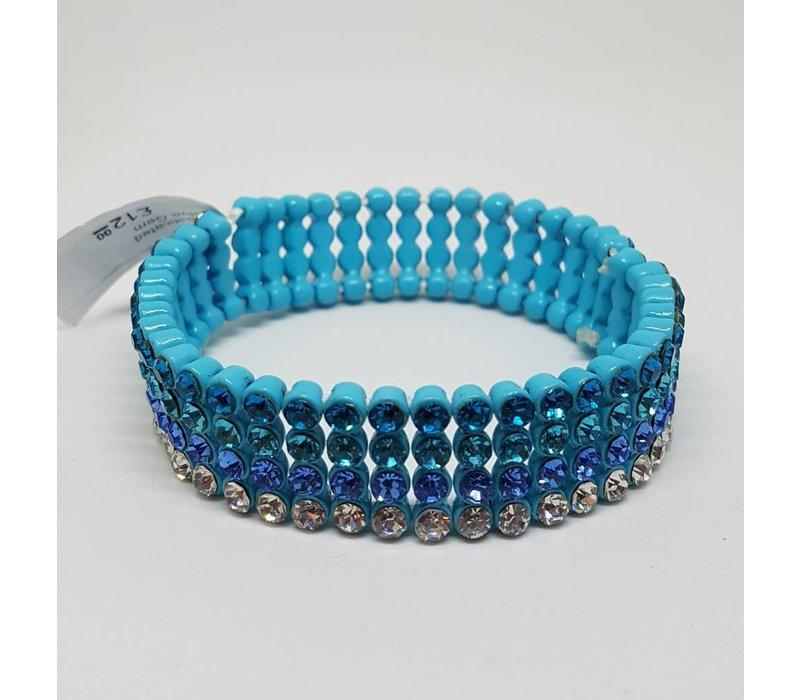 Elasticated Blue Gem Bracelet